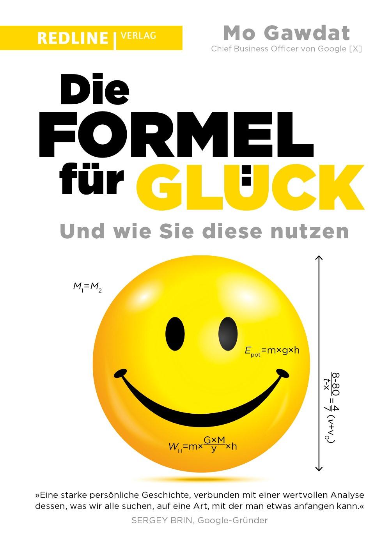 Auf dem Buchcover sieht man ein großes gelbes Smiley mit Formeln.