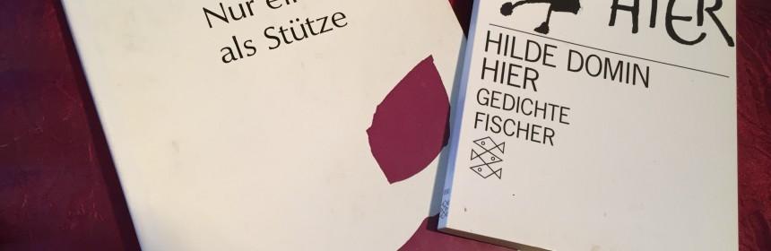 Hier sieht man 2 Gedichtbände von Hilde Domin.